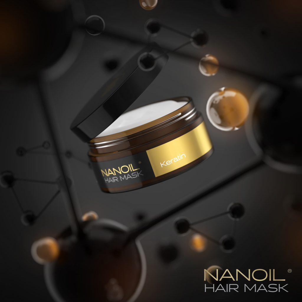 Nanoil Haarmaske mit Keratin – eine professionelle Haarpflege zu Hause