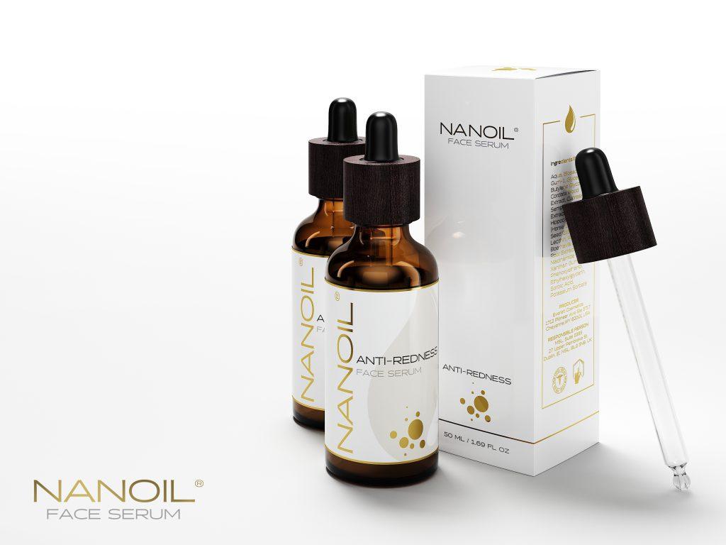 Nanoil Gesichtsserum für die Haut mit Neigung zu Couperose gegen Reizungen